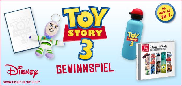 Willkommen beim Toy Story 3 - Gewinnspiel