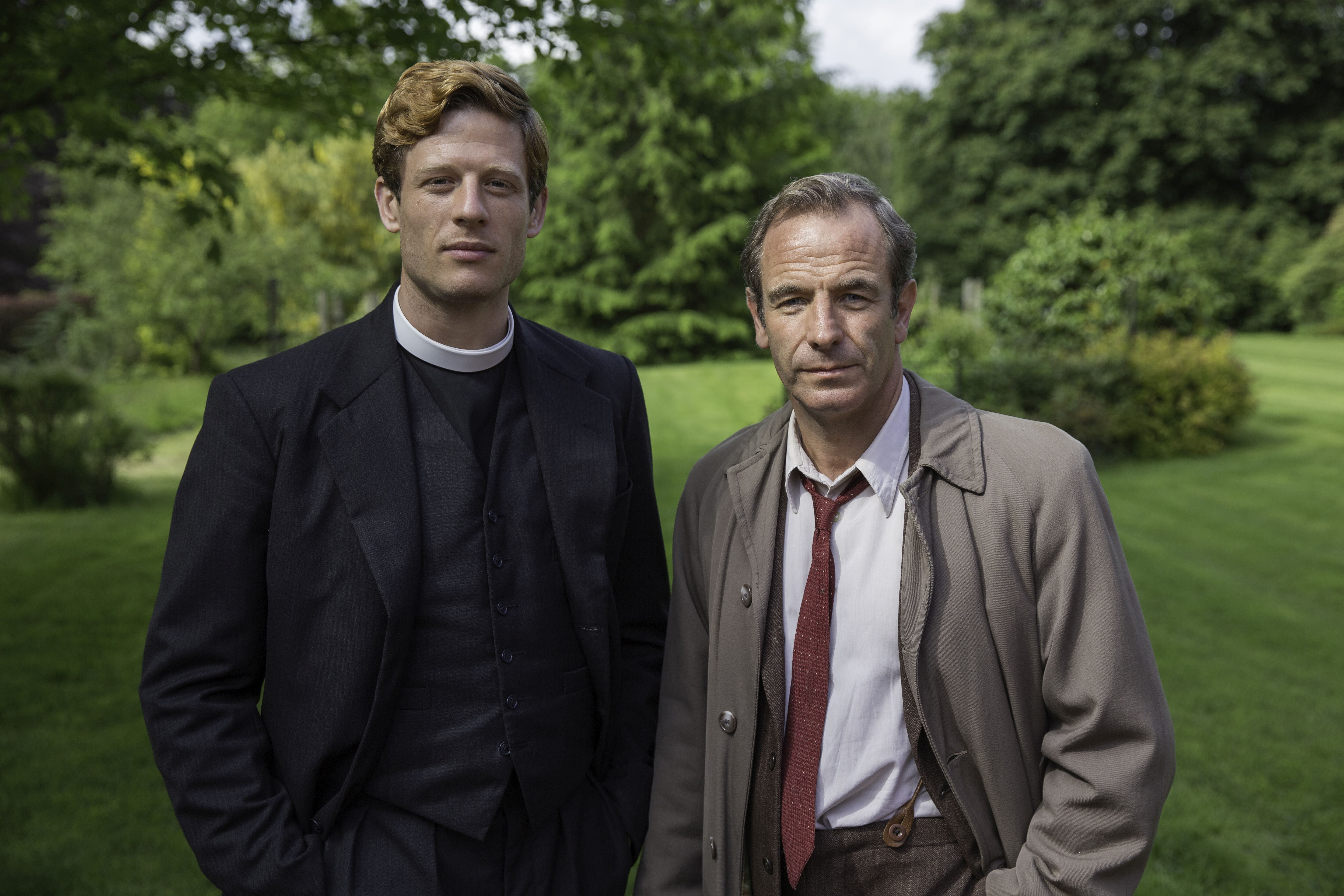 Sidney Chambers (James Norton) und Geordie Keating (Robson Green)